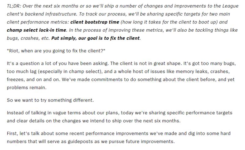 拳头谈服务器改进计划:今年将启动时间降至15s